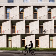 Angled stone surfaces create zigzags across the facade of this hospital building in Copenhagen by Danish firm 3XN. Read the full story on dezeen.com/tag/hospitals #architecture