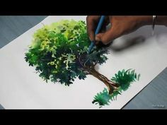 How to Paint A Tree with Watercolor - YouTube