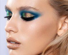 Sexy Makeup, Girls Makeup, Makeup Inspo, Makeup Art, Makeup Inspiration, Beauty Makeup, Makeup Looks, Bright Eyeshadow, Liquid Eyeshadow
