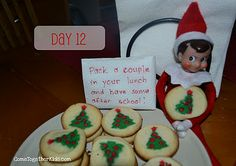 Elf makes yummy cookies for school lunches or after school snacks