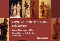 Muestra de #esculturas en madera del artista Delfín Comesaña. Este viernes 21 - 18hs #Museo Municipal de Bellas Artes Enlace permanente de imagen incrustada