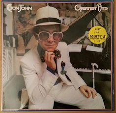 Vintage Elton John Greatest Hits LP Record Vinyl Album Rocket Man Bennie and the Jets Lp Vinyl, Vinyl Records, Madman Across The Water, Benny And The Jets, Dont Let The Sun, Best Selling Albums, Goodbye Yellow Brick Road, Crocodile Rock, New Fathers