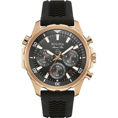 Bulova - Marine Star Quartz Wristwatch - Rose gold, Men's, 97B153