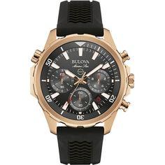 Bulova - Marine Star Quartz Wristwatch - Rose gold, Men's, 97B153
