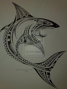 Polynesian shark tatspiraton