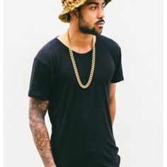Rushed Collier 18k Gold Plated | Hip hop and street styles for men | Affordable men's accessories