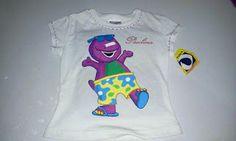 camiseta de barney pintada a mano