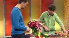 Blütenherzen basteln im ARD Buffet Studio, Quelle: SWR