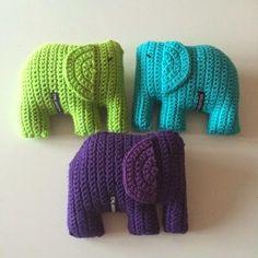Häkeln: Elefanten, inkl. Anleitung auf schwedisch, aber gut verständlich