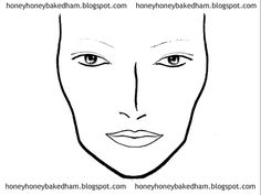facetemplate2 make up pinterest face charts face and makeup