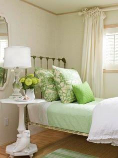 Green summer or spring colours. Home Decor.