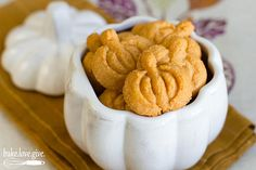 Pumpkin-shaped Cheddar Spritz Crackers perfect for fall entertaining