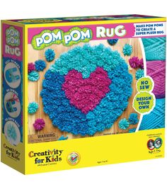 Creativity For Kids Make Your Own Pom Pom Rug Kit