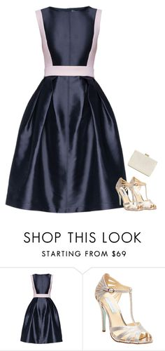 """Thinking about Prom"" by sc-prep-girl ❤ liked on Polyvore featuring Lattori, Betsey Johnson and Whiting & Davis"