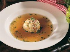 Jižní Tyrolsko - Špekové knedlíčky s masovou polévkou