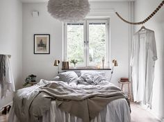 Beautiful bedroom | Vita Eos lamp available at www.istome.co.uk