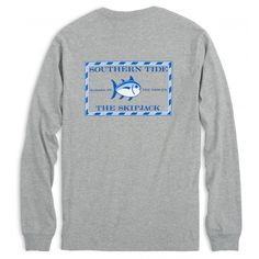 Check out Long Sleeve Heathered Original Skipjack T-Shirt from Southern Tide