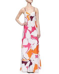 Garden-Print Silk Maxi Dress by Diane von Furstenberg