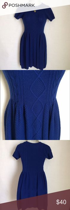 ✨NEW Listing✨Chelsea & Violet sweater dress NWT Adorable Chelsea & Violet bright cobalt cable sweater dress. Short, slight puff sleeves and fit n flare shaping. Size M. Not interested in trades. NWT Chelsea & Violet Dresses