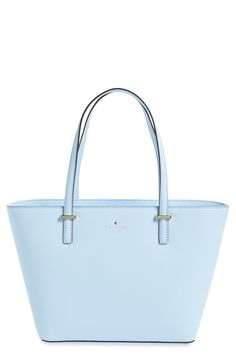 A sky blue tote from Kate Spade that's fit for carrying on the daily!