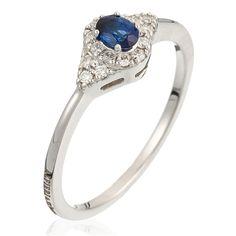 Bague Secret en or blanc avec diamants et saphirs; ALFIERI & ST. JOHN <3 <3 <3