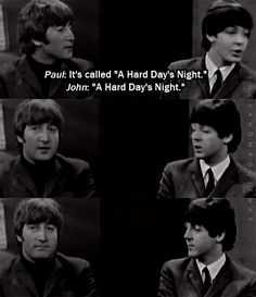 Hard Day's Night Promo...this is great!  Paul's face in the last gif.**