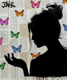 Buy Prints of lyrical, a Ink on Paper by LOUI JOVER from Australia. It portrays: Women, relevant to: louijover, jover, collage, contemporary, bookpages, drawing ink pencil and collage on vintage book pages adhered together to make one sheet ready for framing as desired