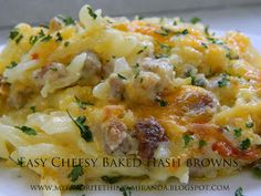 My Favorite Things: Easy Cheesy Sausage Baked Hash Browns
