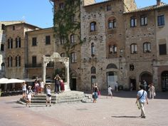 Square in San Gimignano Street View, San, Explore, Italy