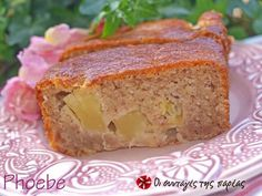 Κέικ εξωτικό (νηστίσιμο) #sintagespareas Cooking Cake, Meatloaf, Banana Bread, Recipies, Snacks, Vegan, Lent, Desserts, Greek