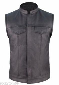 concealed carry leather motorcycle vest free shipping $65.95 #concealedcarryvest #motorcyclevest #clubvest https://charityleather.com
