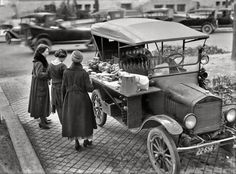 The Food Truck of 1919  -  The food truck has recently started to branch out into a whole new segment of fast food. How they did it back in 1919 was to use a Ford Model T and turn into essentially a sandwich vending machine. Customers could walk up and have their choice of fully prepared sandwich, fruit and maybe a cup of coffee to start the day.