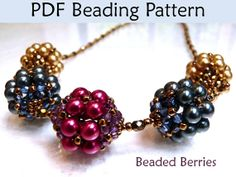 Beaded Beads Beading Pattern, Bead Jewelry Tutorial, Beadweaving Instructions, Techniques, Simple Bead Patterns, Holiday Project