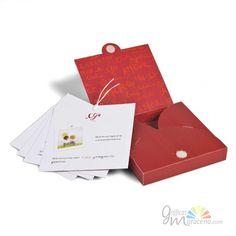 Invitación de boda en caja roja