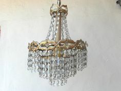 Mid century ceiling chandelier metal frame by frenchvintagedream