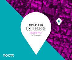 Siamo pronti per un'altra inaugurazione in Veneto. Giovedì 3 Dicembre vi aspettiamo numerosi presso il nuovo punto vendita #Tigotà di Mestre in via tasso, 23/A.