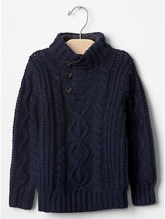 Sherpa mockneck cable sweater | Gap