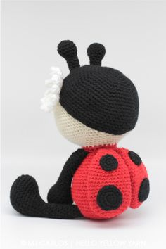 Jadybug the Ladybug amigurumi pattern by Hello Yellow Yarn Crochet Baby Toys, Crochet Animals, Love Crochet, Knit Crochet, Amigurumi Patterns, Crochet Patterns, Crochet Ladybug, Crochet Projects, Sewing Projects