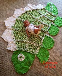 Dinosaur Monster Animal Rag Quilt Blanket