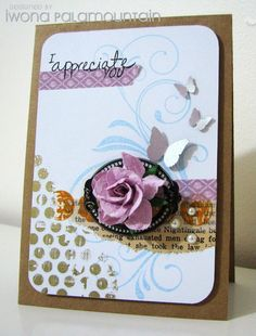 Great idea to use washi tape on a card