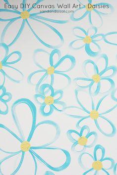 Easy DIY Canvas Wall Art - Daisies