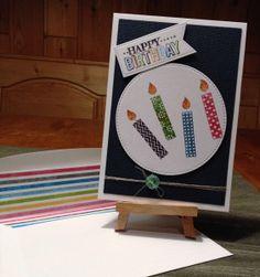 Geburtstagskarte mit bunten Stampin' Up!®Kerzen & Misti - Urmels Stempel-, Stanz- und Filzparadies