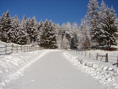country roads scenes | Country road winter scene