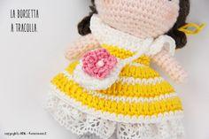 #crochetdoll vestiti di primavera. Schemi gratuiti sul blog.
