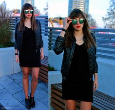 Combination of slip dress and bomber jacket: https://jointyicroissanty.blogspot.com/2016/11/slip-dress-and-bomber-jacket.html  #fashion #moda #ootd #slipdress #bomberjacket #streetstyle