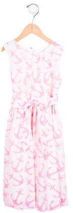 Rachel Riley Girls' Anchor Print Sleeveless Dress w/ Tags