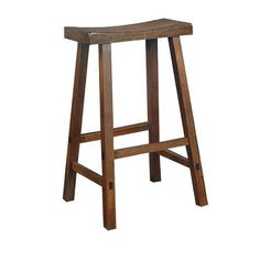 Saddle Seat Counter Stool Hardwood/Walnut - International Concepts : Target