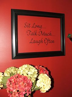 Framed vinyl to make the words pop on the wall. Decor, Picture Frame Arrangements, Wall Decor, Picture Wall, Vinyl Crafts, Vinyl Lettering, Vinyl Art, Frame, Frame Arrangement