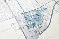 Maps of Davis by Christine Bui, via Behance