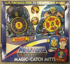 Masters of the Universe Magic-Catch Mitts vintage He-Man   Masters of the Universe Magic-Catch Mitts vintage He-Man He-Man